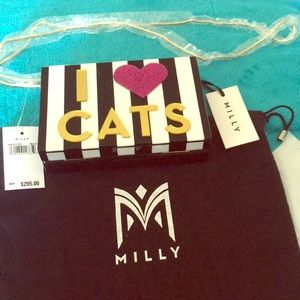MILLY i❤️Dogs i❤️cats purse NWT